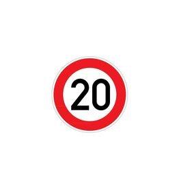 Höchstgeschwindigkeit 20 km Aufkleber