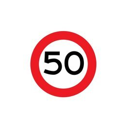 Höchstgeschwindigkeit 50 km Aufkleber