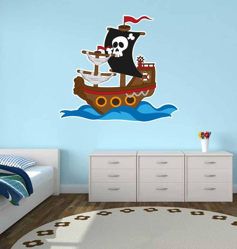 Kinderzimmer Sticker - Piratenschiff - Dr.Sticker