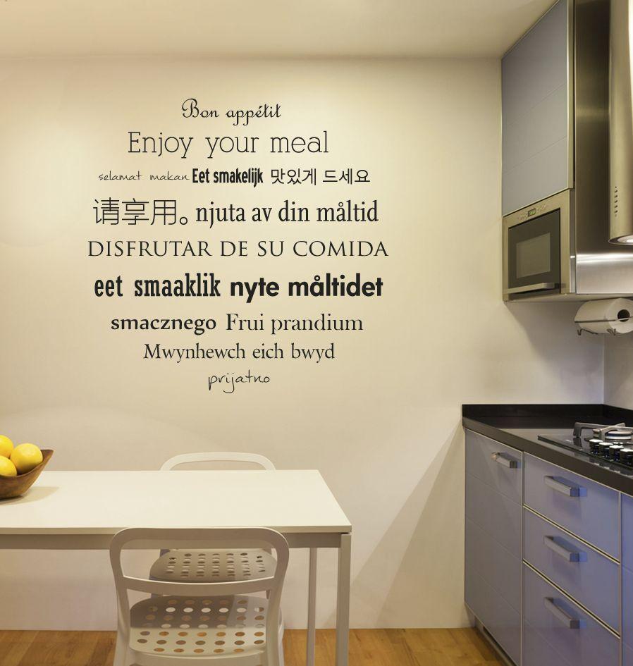 Wandaufkleber Küche Text 3 - Dr.Sticker