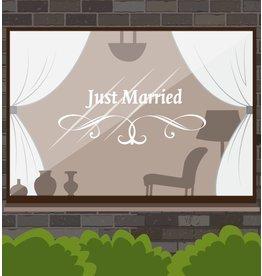 Jahrestag - Just married mit anmutigen Ornament