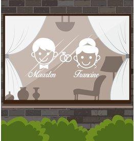 Jahrestag - Mann & Frau mit Ringen