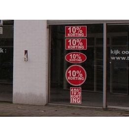Set Rabatt-Sticker auf Niederländisch (5 Sticker)