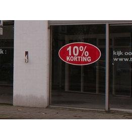 10% Rabatt Oval Aufkleber