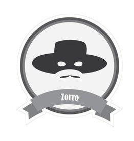 Berühmter Schnurrbart Zorro Sticker