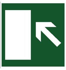 Fluchtweg links Aufkleber