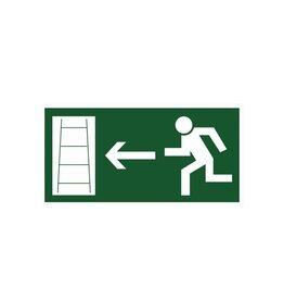 Fluchtweg Feuerleiter links Aufkleber