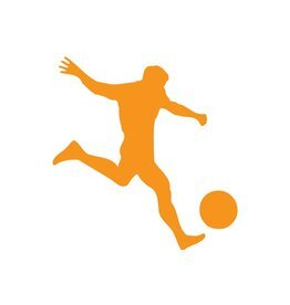 Fußballer Orange