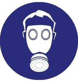 Adembehalingsbescherming verplicht Sticker