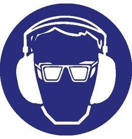 Oog- en gehoorbescherming verplicht Sticker