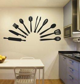 Wandaufkleber Küchenhelfer