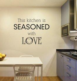 Wandaufkleber Küche Text 1