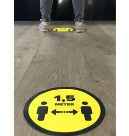 Abstand des Bodenaufklebers 1,5 Meter (ca. 25 cm) aufbewahren