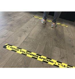 Halten Sie Abstand Bodenaufkleber Corona 7,5x90cm (höchste Qualität)