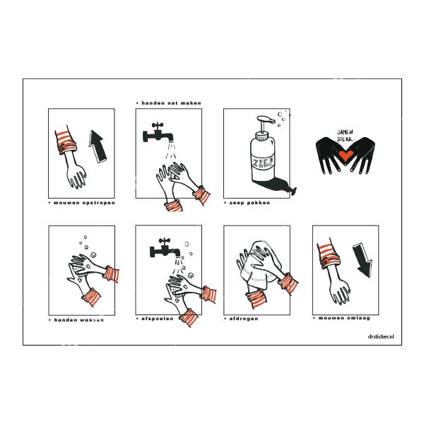 Abziehbildset Hygieneschule Hände gut waschen