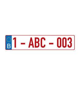 Niederländischer Registrierungsaufkleber - Copy