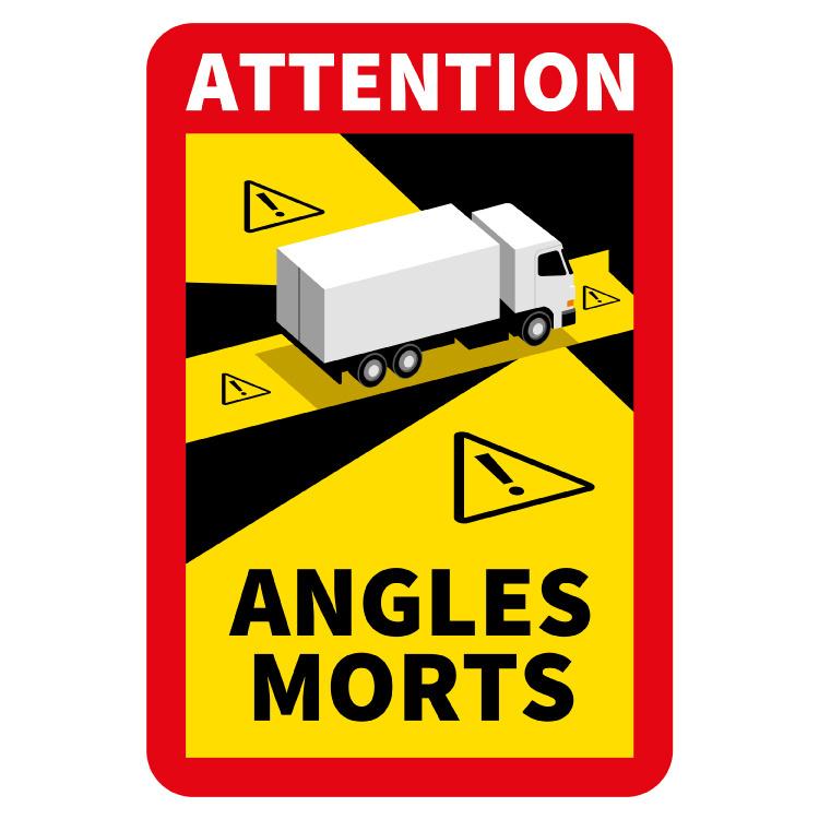 Blinder Fleck - Achtung Winkel Morts Truck Sticker (17 x 25 cm) (Preis = inkl. MwSt.)