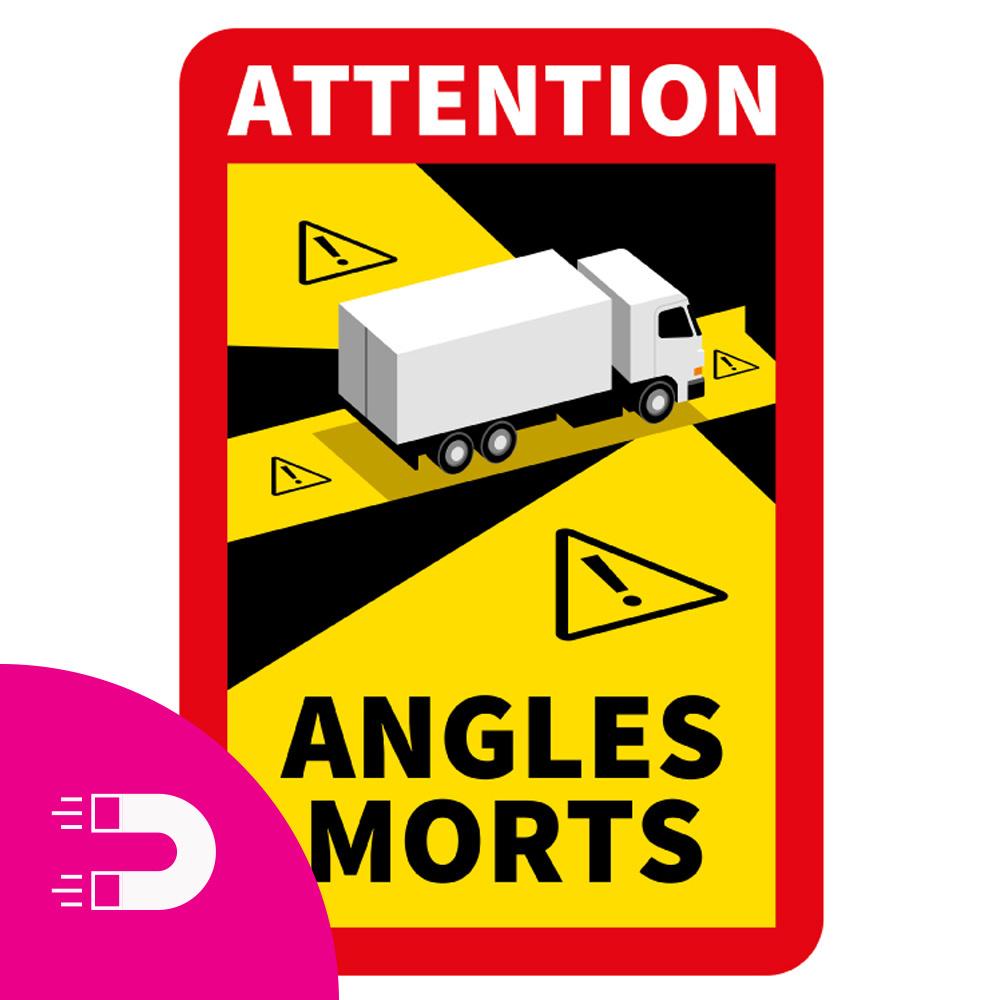 Magnetblech Blinder Fleck - Achtung Winkel Morts Truck (17 x 25 cm) (Preis = inkl. MwSt.)