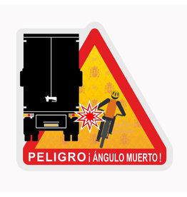 Toter Fleck - Peligro ángulos muertos LKW Spanien Aufkleber